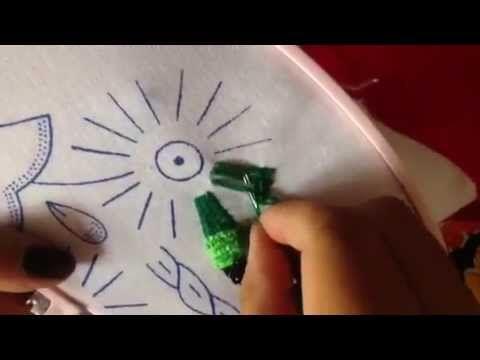 # 25 bordado fantasía gusanito con cony - YouTube