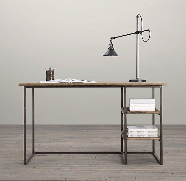 Best 25 simple desk ideas on pinterest desk ideas desk inspiration and desk space - Small spaces restoration hardware set ...