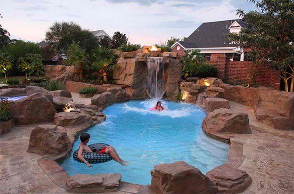 20 Chemical Free And Bespoke Natural Swimming Pools Home Design Lover Pool Waterfall Swimming Pool Designs Backyard Pool