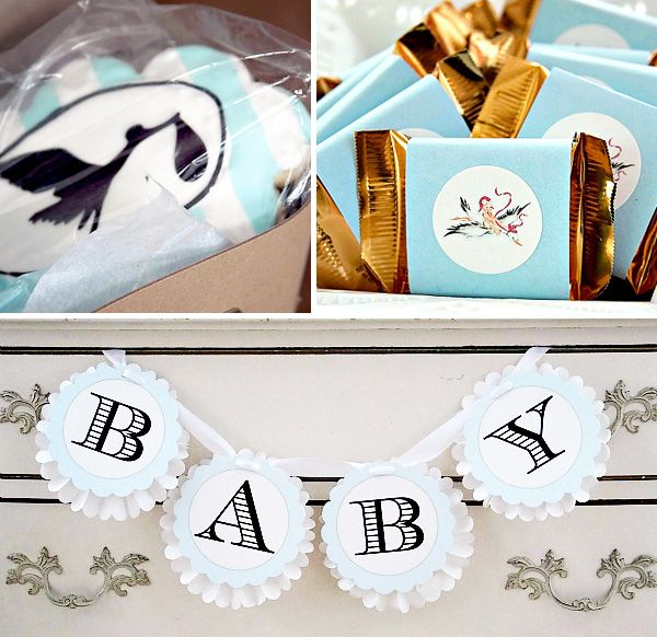 stork baby shower | Stork Express Airlines Baby Shower // Hostess with the Mostess®