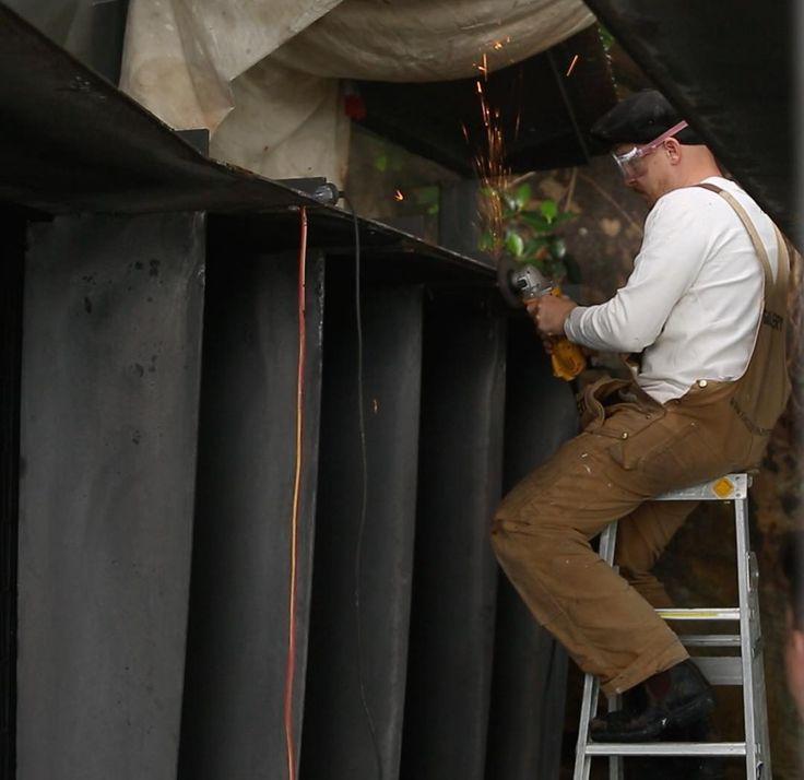 Steelwork maintenance at Great Mackerel Beach  #GalleryPaintworksAndMaintenance #CaseyBrownArchitecture #Dulux #Dewalt #makita #fein #steelworks #paintworks #restoration #maintenance