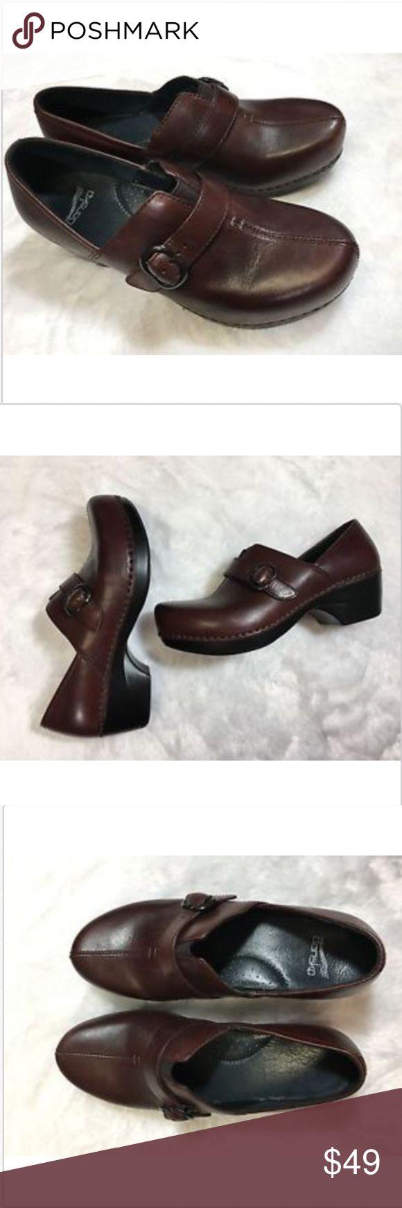 Dansko Tamara Clog Cordovan Leather Shoes Dansko Size 38 8 Tamara Clog Cordovan Burnished Brown Leather Shoes Buckle Dansko Shoes Mules & Clogs