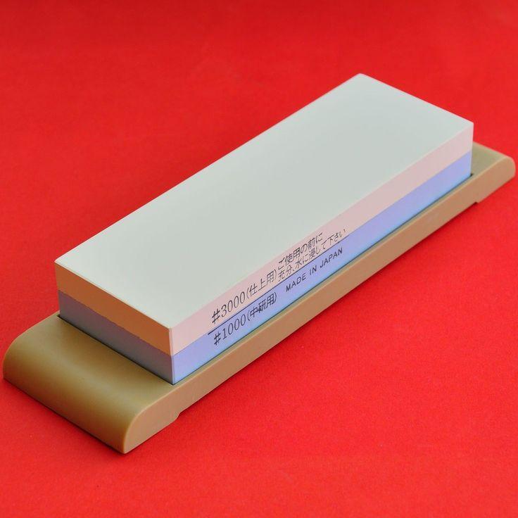 Japanese Whetstone Waterstone Sharpening Stone Suehiro 1000/3000 Sharpener A031