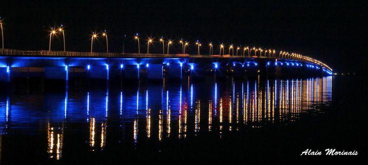 Pont d'Oléron, la nuit.