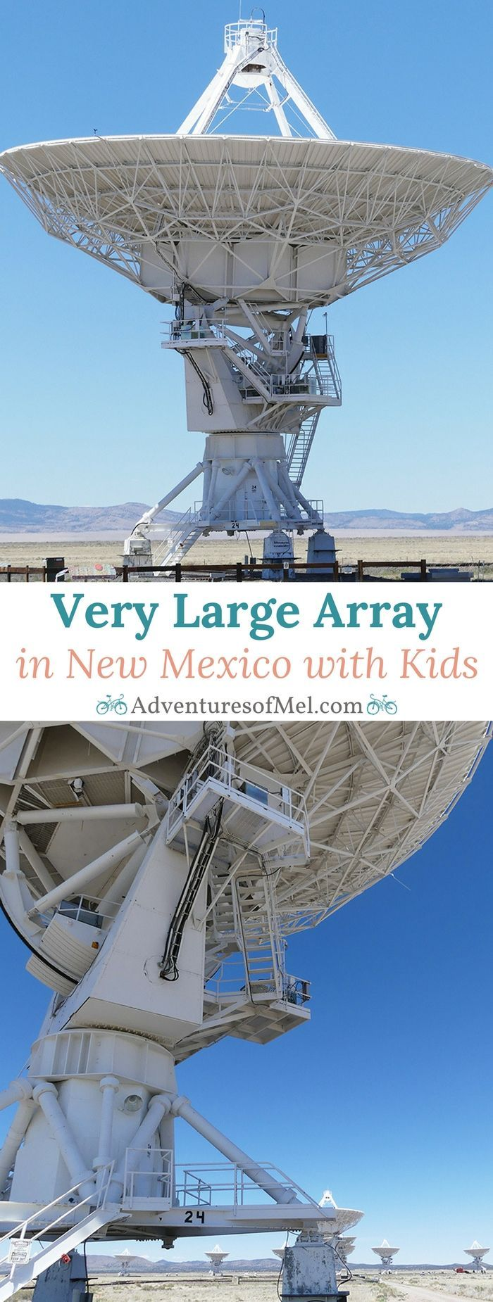 Very Large Array Radio Telescope Facility in New Mexico, an exciting place to visit with kids. Educational travel stop for astronomy buffs.