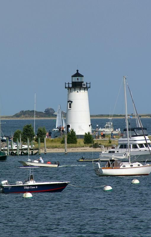 Edgartown Harbor Light is a Martha's Vineyard lighthouse located in Edgartown, Massachusetts, USA, that marks the entrance into Edgartown Harbor and Katama Bay. Martha's Vineyard has five lighthouses.