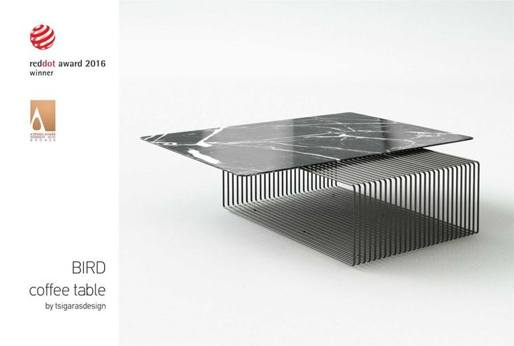 bird (coffee table) RED DOT DESIGN AWARD 2016-2017 and A' DESIGN AWARD 2016 WINNER (BRONZE), Athens, 2015 - Christos Tsigaras