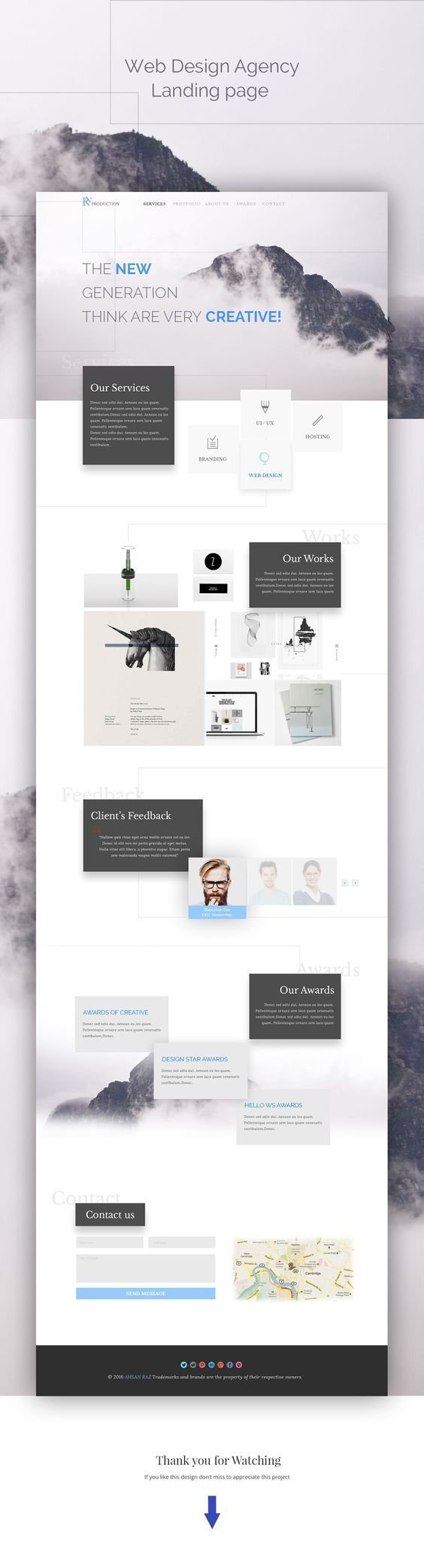 Mise en avant des contenus important avec un shadow -----Web designs for agency creative - #agencywordpressthemes #wpthemesagency:
