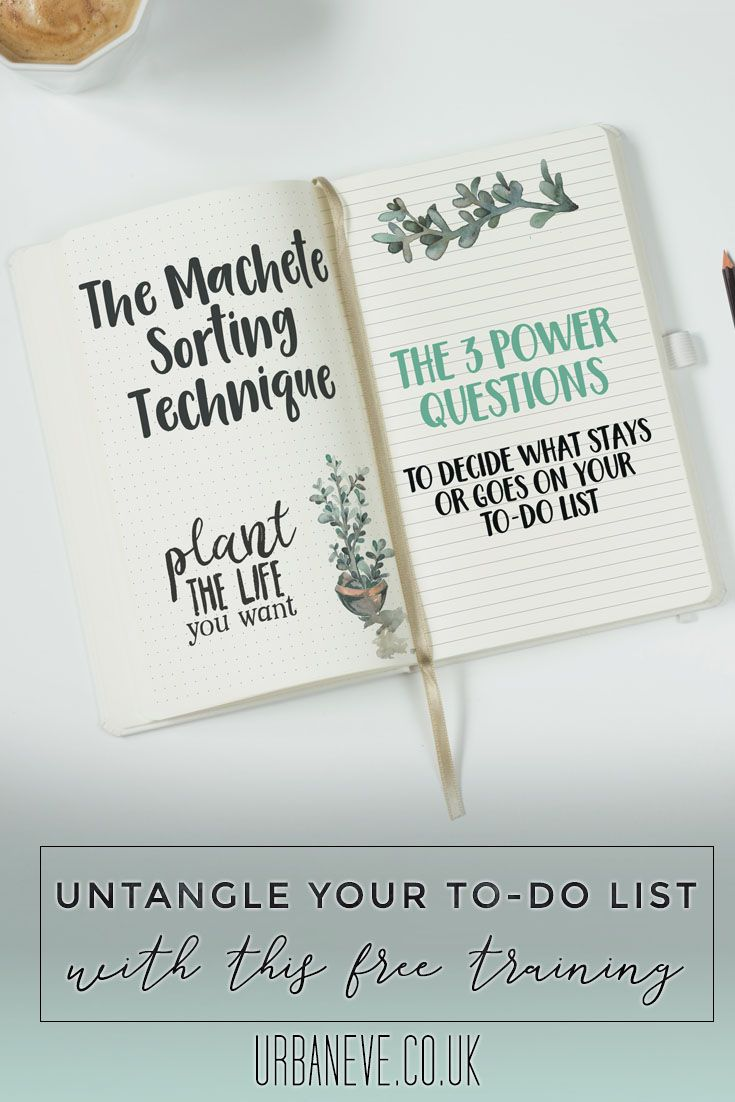 In just 15 minutes, the Machete Sorting Technique helps you focus and create a managable to-do list so you can get instant relief from paralysing overwhelm.