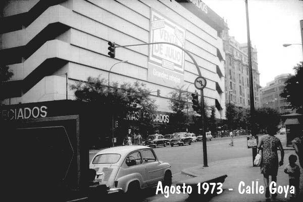 Calle Goya. Madrid, agosto 1973