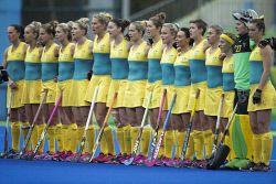 TWA-0050936 © WestPix 2016 Rio Olympics. Rio de Janeiro, Brazil. Hockeyroos vs India at ther Olympic Hockey Centre.  Picture: Simon Santi The West Australian