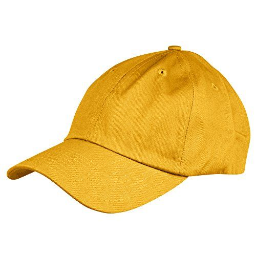Dalix Unisex Unstructured Cotton Cap Adjustable Plain Hat, Gold:   You will find the perfect blend of style with urban in our 6 Panel Cap Crown Height: 4 inches Brim Length: 3 inches Brim Width: 5.5 inch (flexible bend) Adjustable Total Hat Length: 11 in. Adjustable Total Hat Width: 6.5 in. Comes in 13 Colors, Royal Blue, Red, Black, Navy Blue, Kelly, Light Blue, Orange, Maroon, Cream, Dark Green, Pink, White, And Khaki MATERIAL: 100% Cotton Cap SIZE: Adjustable Fit, Hat Length: 11 in....