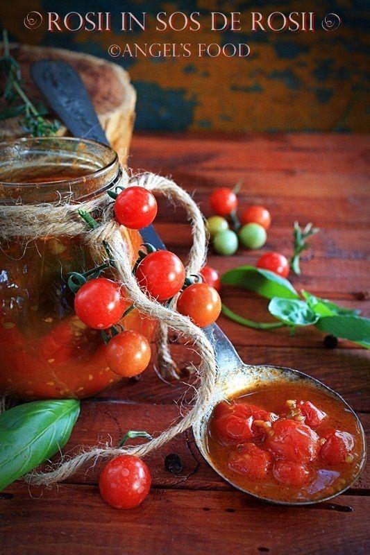 Rosii Cherry in sos de rosii~Tomato Sauce With Cherry Tomatoes