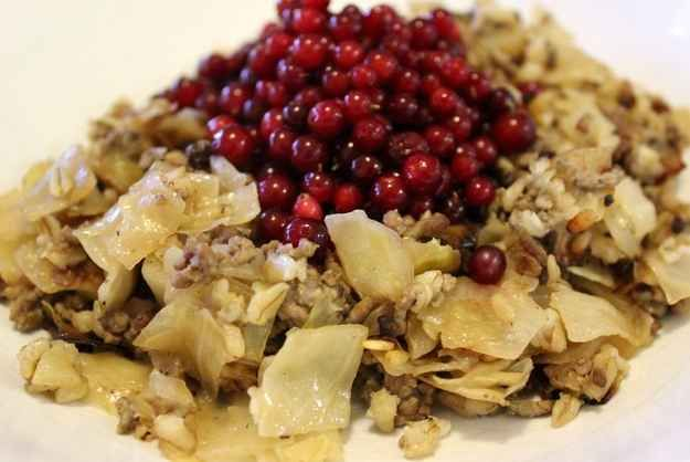 Kaalilaatikko (cabbage casserole) - Finnish food
