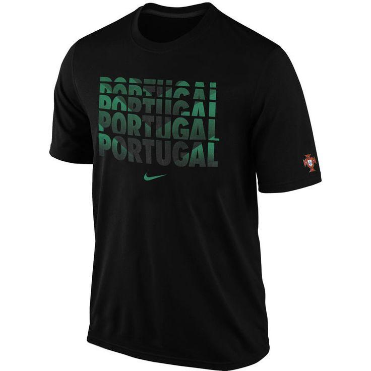 Nike Portugal Core Type Slim Fit T-Shirt - Black