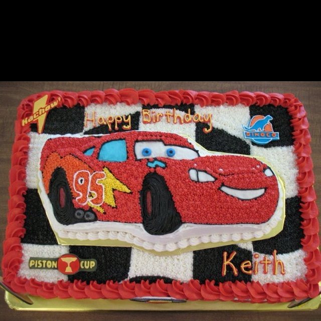 Lightning Mcqueen Sheet Cake Sheet cake with lightning