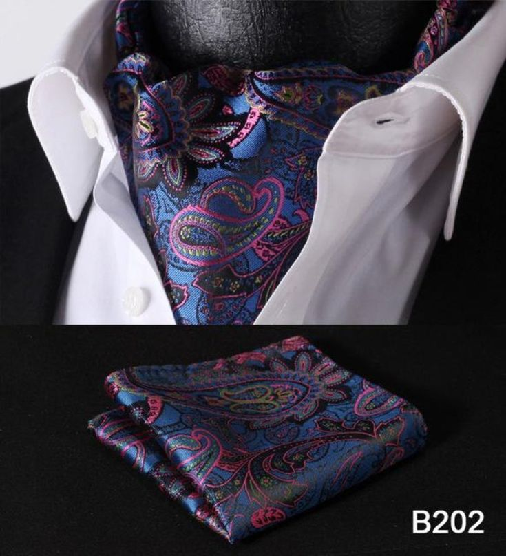 Party Classic Pocket Square Wedding Floral &Paisley & Plaid& Polka Dot Men  Silk Cravat Ascot Tie