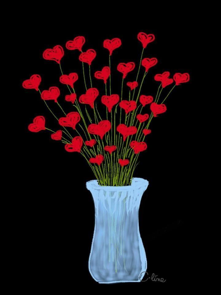 Saint-Valentin : dessin réalisé sur iPad mini avec l'application Drawing Box