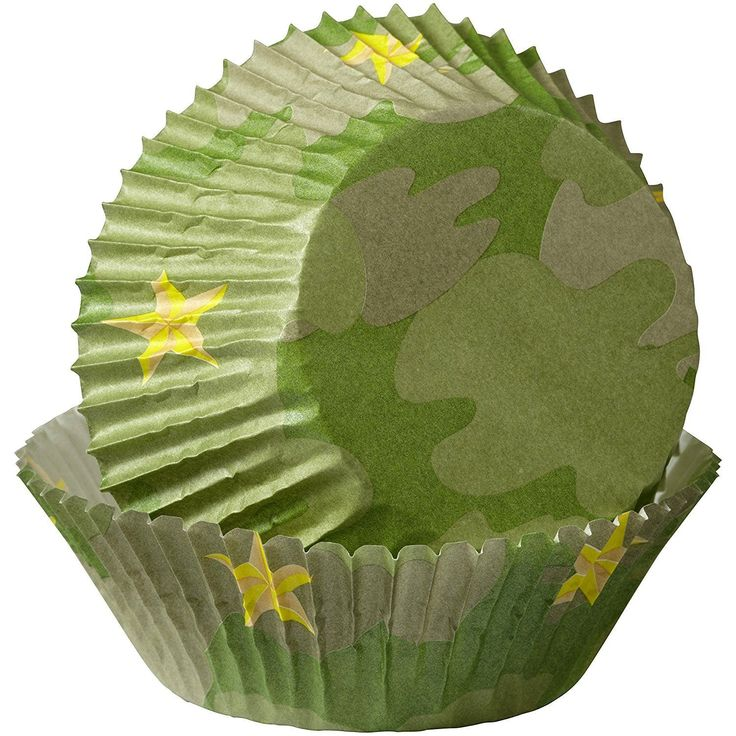 """Wilton Standard Camoflauge Military Cupcakes Muffin Party Baking Cases 2 """""""