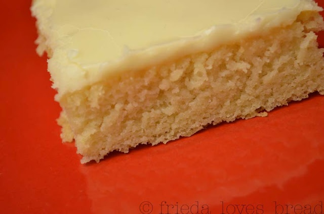 white texas sheet cake...this would be great with berries on top!