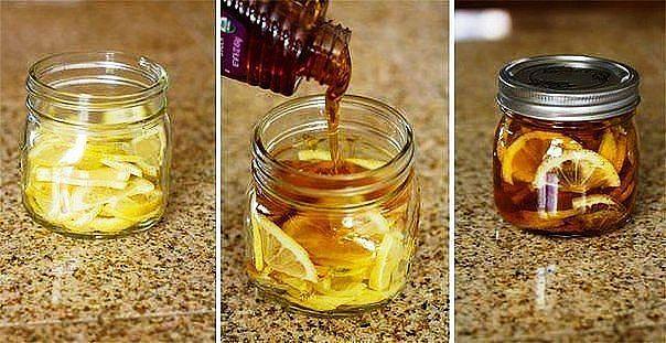 Простое лекарство от боли в горле.    Ингредиенты: Лимон Мёд Имбирь.   Приготовление:   1. Нужно нарезать несколько лимонов, залить это все медом и добавить немного имбиря.   2. Закрыть в банке, поставить в холодильник на 2-3 месяца и когда смесь станет желеобразной разбавить ложкой теплой воды - лекарство готово.