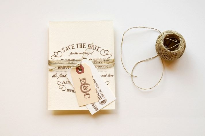 rustic elegant wedding stationery: like the little tags
