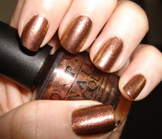 OPI Warm and Fozzie, it's really pretty in person