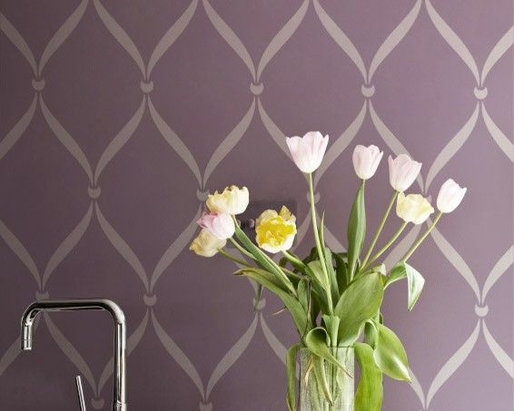 Pared plantilla patrón cinta enrejado Alternatiive gran Allover de la plantilla para etiquetas y papel pintado para la decoración de la pared