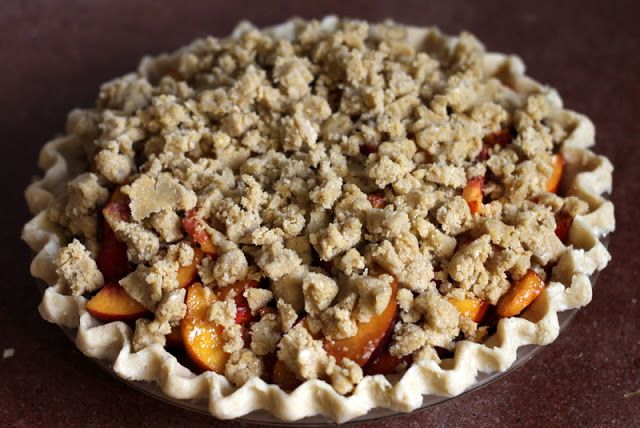 Nectarine bourbon brown sugar pie.  have wanted to tell you about this pie for a couple weeks now, but I keep hesitating. See, this post isn't supposed to be about nectarine ...