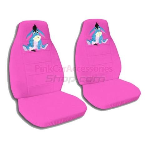 Hot Pink Eeyore Car Seat Covers