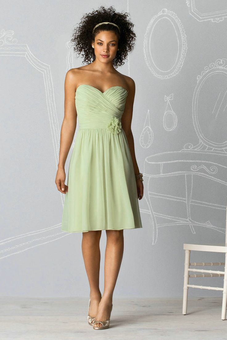 115 best wedding party images on pinterest bridesmaids flower sweetheart ruched chiffon ribbon light green bridesmaid dress on sale with flower detailsbuy halter ombrellifo Image collections