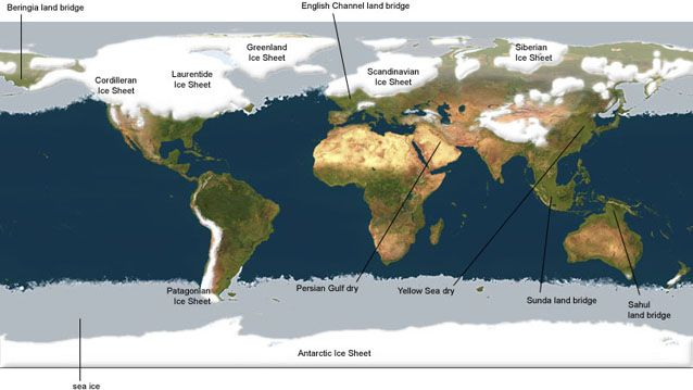Direct Map Map Of The World During The Ice Age