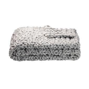 Chunky Knit Plaid