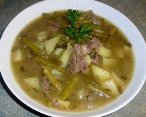 Das perfekte Suppe-Eintopf- Frische Buschbohnen auf Suppenfleisch und Markknochen gekocht-Rezept mit einfacher Schritt-für-Schritt-Anleitung: Das…