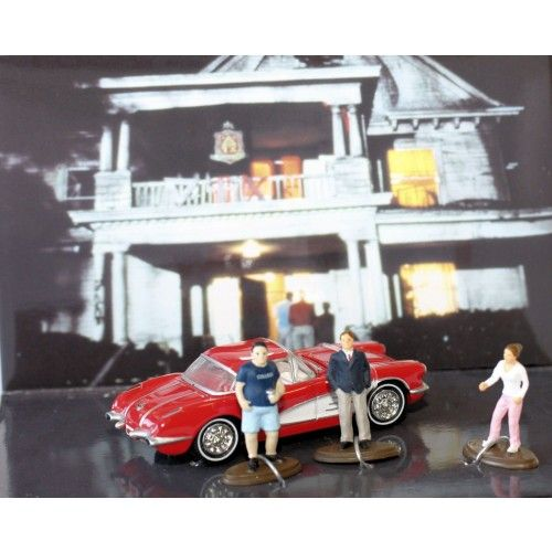 Diecast Diorama ANIMAL HOUSE MOVIE 59 CHEVY CORVETTE MOMENTS IN TIME SCALE 1:64 AU$24.99