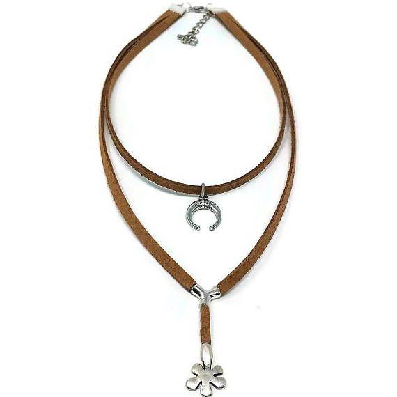 Women Dainty layered Chokervegan choker necklace for