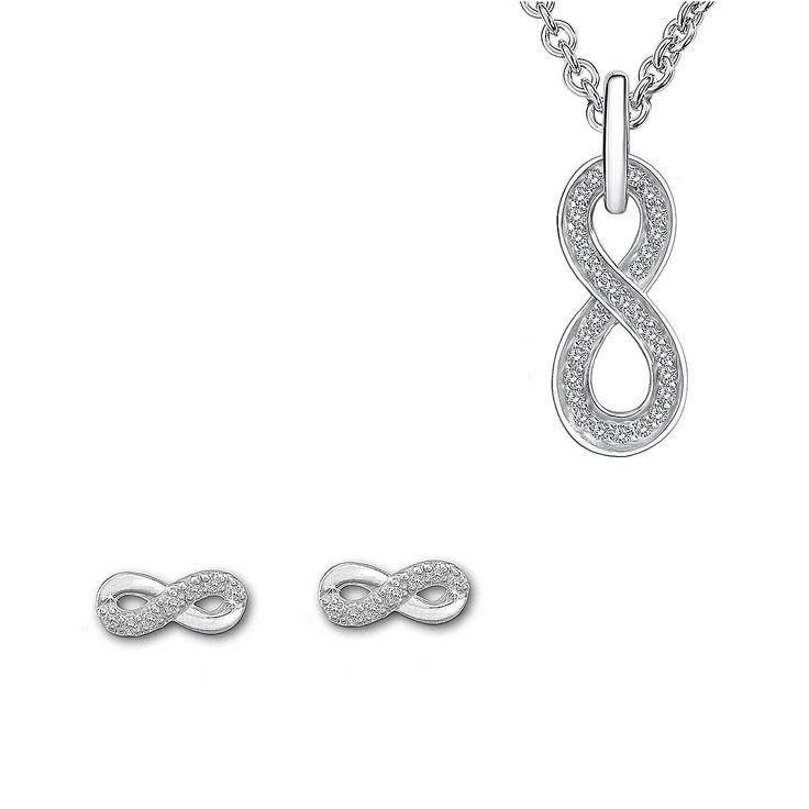 Set Dragoste Infinită Nahla Jewels și SilberDream (cercei, colier, pandantiv)