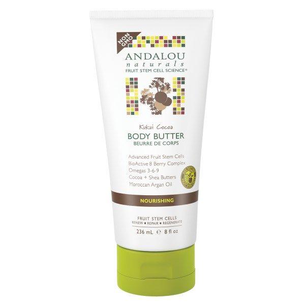 Andalou Naturals, Body Butter, Kukui Cocoa, Nourishing, 8 fl oz (236 ml)