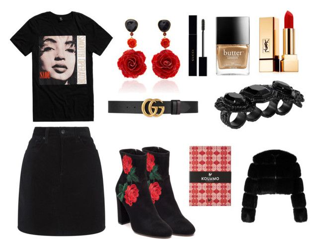 """King of Sorrow"" by matildetilde on Polyvore featuring rag & bone, Steve Madden, Butter London, Bahina, Gucci, Givenchy, Yves Saint Laurent and Dsquared2"