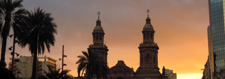 el techo de la cathedral. Plaza de armas santiago de chile