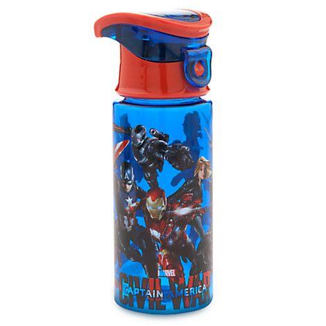 Marvel 39 S Captain America Civil War Water Bottle Disney Store Marvel Shop Pinterest