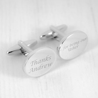 Engraved Thanks for Being our Usher Cufflinks