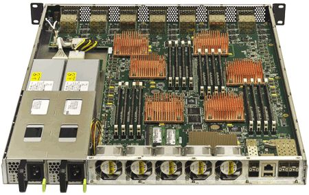 Rear View - - mQuad Broadcom XLR 732 Rackmount server