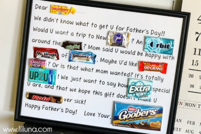 Free Fathers Day Candy Bar Poster Printable