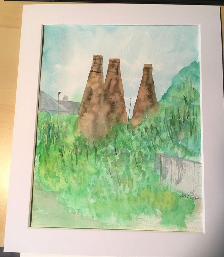 The 3 Sisters, Bottle Kilns, Burslem, Stoke on Trent by KnottyThistle on Etsy
