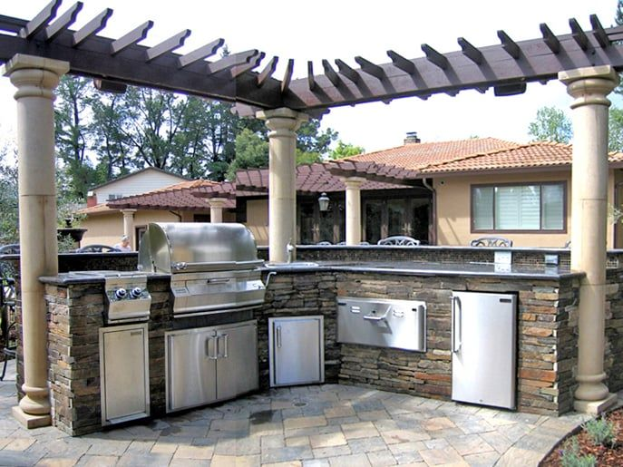 Photo Of South Bay Design And Landscaping San Jose Ca United States With Images Modern Outdoor Kitchen Modern Outdoor Design
