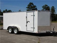 NEW 7x14 7 x 14 V-Nose Enclosed Cargo Trailer w/ Rampheavy equipment trailers apply now www.bncfin.com/apply
