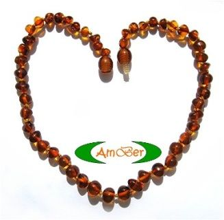 """100% Natural Certified Baltic Amber made in Lithuania. Each necklace is lovingly made, and comes with a 100% Baltic Amber guarantee mini-certificate.   33cm in length, it is warm to touch, and light to wear.  Amber is not a """"stone"""" but a natural resin. So as it warms with the body's natural temperature, amber releases its healing oils (these oils contain succinic acid) which are easily absorbed into the skin and then into the bloodstream. Baltic amber has some of the highest concentrations…"""