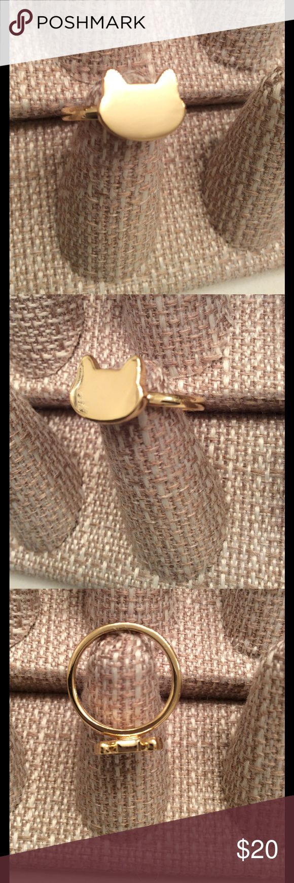 Golden Kitty Kat Ring Golden Kitty Kat Ring 14k Gold Plated, Rings are all New, Just no tag to show. KEVET Jewelry Rings