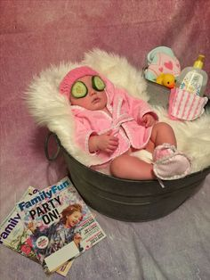 New Ideas For New Born Baby Photography : Baby Spa Day